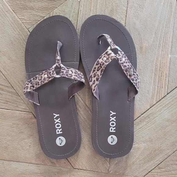 Roxy Leopard Flip Flops